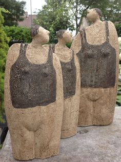 Joop Koopman Keramik - Keramikskulpturen - Art World Concrete Sculpture, Sculpture Clay, Sculptures, Ceramic Clay, Ceramic Pottery, Ancient Goddesses, Fat Art, Garden Art, Garden Ideas