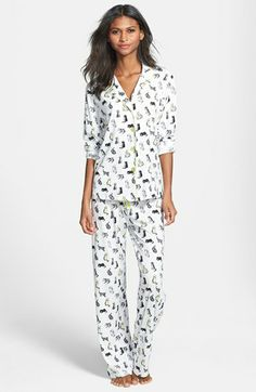 e3216bb5a7 PJ Salvage  Shine On - Cats  Pajamas available at  Nordstrom Pajamas All Day