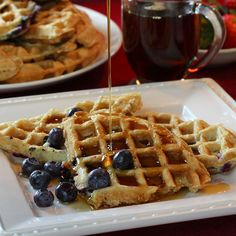 Blueberry Waffles from @KD Eustaquio Kelly