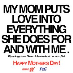 Check out what 21 athletes had to say about their Moms: http://es.pn/espnWMothersDay