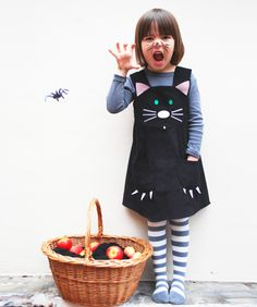 Lucky cat- toddler character play dress. New to the Wild Things Menagerie,this little character is sure to spark your little ones sense of adventure.