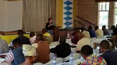 Photo: Dee Cheyney from All Saints Dallas leads the Anglican Mission training on Day 2 of the Apolo Leadership Institute on the topic of prayer with. LeRoy from Boga,, Kindu and Bukavu Dioceses.