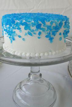 Blue Raspberry Rock Candy Groom's Cake