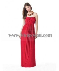 Zipper Red A-line Floor-length Strapless Bridesmaid Dress Grecian Bridesmaid Dress, Spring Bridesmaid Dresses, One Shoulder Bridesmaid Dresses, Affordable Bridesmaid Dresses, Prom Dresses, Sparkly Dresses, Bridesmaids, Ny Fashion Week, Red Fashion