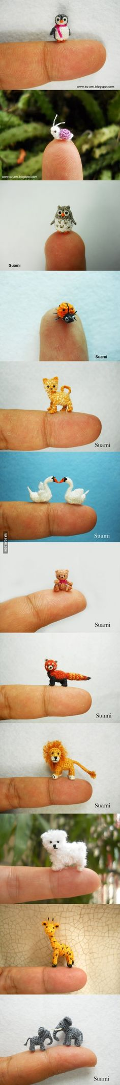 Tiny animals by Suami Toooo adorable!! Heart hurts... Must have...