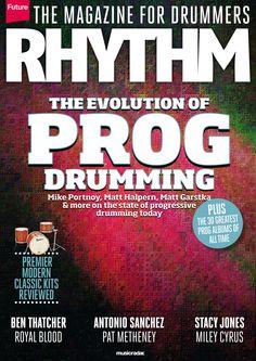 Rhythm Magazine 233. The evolution Prog #drumming!