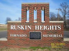 Are there any other tornado memorials? I don't know of any but this one for those who lost their lives in the 1957 Ruskin Heights, Kansas City, MO tornado.