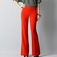 Loft Kate sailer pants -  red tomato wide leg These are amazing and a good fit on everyone, they are a tad too big for me, sad face :( LOFT Pants Trousers