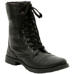 Black Floral Lined Combat Boot | Hot Topic ($40) ❤ liked on Polyvore featuring shoes, boots, army boots, black boots, combat boots, black shoes and black lace-up boots