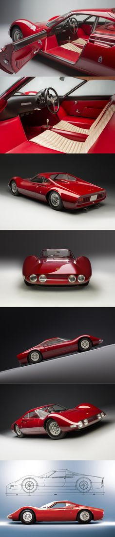 1965 Dino 206 P Berlinetta Speciale / s/n 0840 / Leonardo Fioravanti @ Pininfarina / red / Italy / Ferrari / 17-322