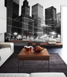 City Scape Mural  #Bloompapers #Wallpapers #Home #Deco #Mural #Urban