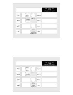 CRAM Character Sheets