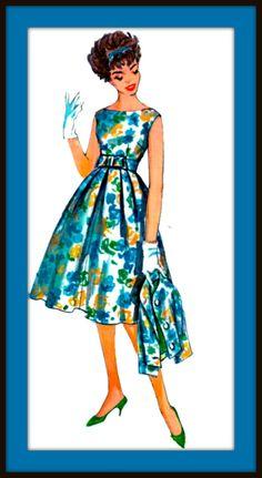 UNCUT Vintage 1950's Dress Pattern 2868