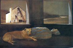Night SleeperAndrew Wyeth (American, Contemporary Realism, 1917–2009): Night Sleeper, 1979. Tempera on panel. Brandywine River Museum of Art, Chadds Ford, Pennsylvania, USA