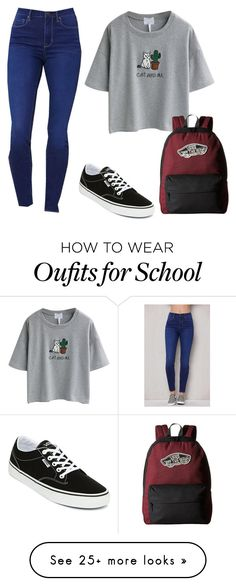 """""""Another day at school"""" by emptyclouds on Polyvore featuring WithChic, PacSun and Vans"""