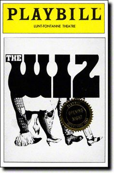 Playbill Cover for The Wiz at Lunt-Fontanne Theatre - Opening Night, May 1984