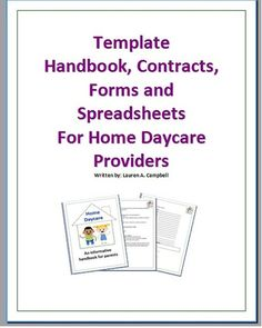 examples of daycare contracts