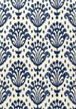 Thibaut Jubilee - Thai Ikat - Wallpaper - Navy on Off White