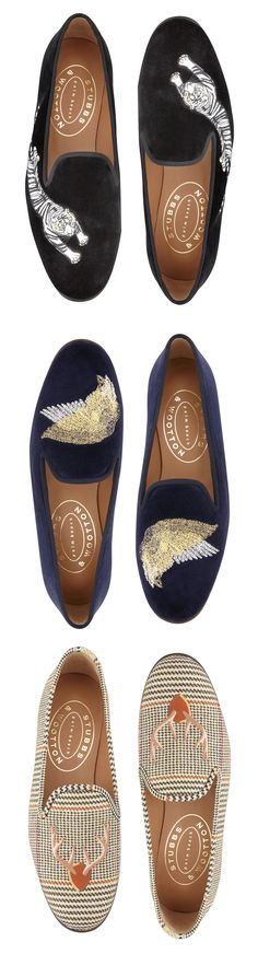 NOVEMBER - Borrowed style from the boys: the Stubbs & Wootton slipper. 212 872 8941