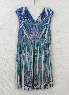 Womens Plus ONE WORLD Floral Paisley Sublimated Empire Waist Dress Size 1X #OneWorld #EmpireWaist #Casual