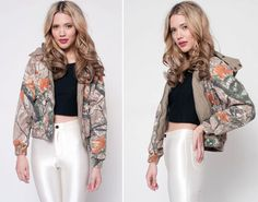 Vintage Camoflauge Cropped Jacket by rumors on Etsy, $42.00