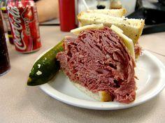 Slyman's Corned beef sandwich, Cleveland--my husband really misses Slyman's since moving to AZ!!