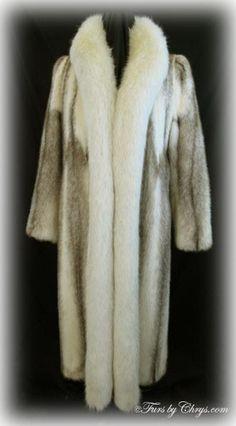 Cross Mink and White Fox Coat Mink Coats, Mink Fur, Fox Fur Coat, White Fox, Furs, Tuxedo, Sash, Dress To Impress, Exotic