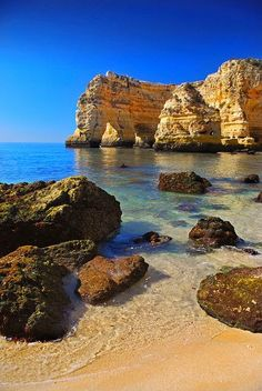 Travel Memory Praia Marinha, Carvoeiro, Algarve, Portugal-one of my fave places in the world Places Around The World, Oh The Places You'll Go, Places To Travel, Travel Destinations, Places To Visit, Around The Worlds, Holiday Destinations, Dream Vacations, Vacation Spots