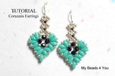Earring TutorialSuperDuo TutorialSeed Bead Earring by mybeads4you