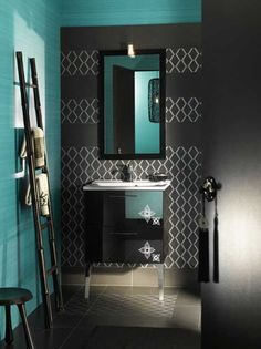 Stunning Black Blue Bathroom Interior Ideas By Delpha Fun Decor