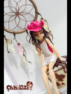 Cowgirl from modelling chocolate