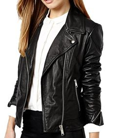 #Ana real #leather #biker #jacket classic design, using high quality genuine Leather by #maritimeleather