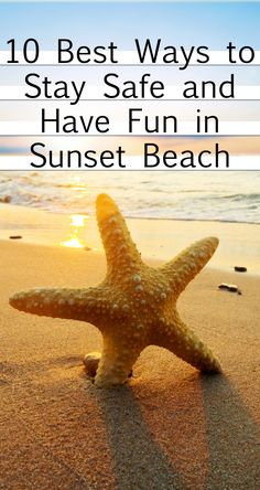 You have the perfect vacation planned out. Fun places to visit, delightful activities planned - nothing is going to go wrong, you are sure of it! You have contingencies for your contingencies. There was one thing you didn't plan for, though - injury. Use this easy 10-point checklist to help you have the best safe, and fun, vacation in Sunset Beach!