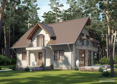 Projekt domu LK&731 Three Bedroom House Plan, Home Design Plans, Larp, Home Fashion, Gazebo, Sweet Home, Home And Garden, House Design, Outdoor Structures