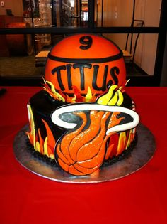 miami heat party ideas | Miami Heat Birthday cake by yuMM