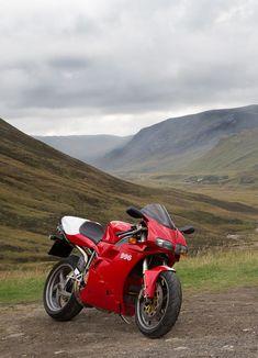 Right place for a good ride. Ducati 996 Monoposto.