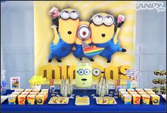 Despicable Me Minion birthday party! See more party ideas at CatchMyParty.com!