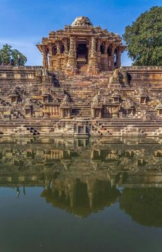 The Sun Temple, Modhera, Gujarat, India - a Hindu temple dedicated to the solar deity Surya