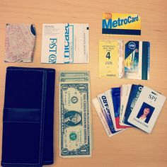 """""""I dare another wallet to fit: 13 cards, cash, dozens of business cards from people I can't remember, 3 transit cards (including one for a state I don't live in), and a teeny map of Chicago,"""" writes Christina Chaey (@christinachaey on Instagram). Meanwhile, check out this """"wallet of the future"""" on our site: http://www.fastcodesign.com/1669980/the-wallet-of-the-future-is-the-wallet-of-the-past#1"""