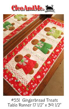 Super cute quilted table runner. I love getting gifts like this :)
