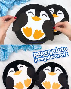 Paper Plate Penguin Craft For Kids - Winter Activities For Kids - Looking for a fun and easy penguin craft idea for kids? This paper plate penguin is a simple DIY fo - Winter Crafts For Toddlers, Animal Crafts For Kids, Christmas Activities For Kids, Paper Crafts For Kids, Toddler Crafts, Preschool Crafts, Indoor Activities, Craft Kids, Craft With Paper Plates