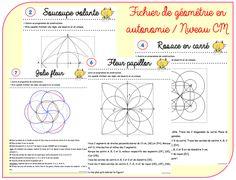 Autonomy file in geometry Cycle 3 Sciences Cycle 3, Mandala Art Lesson, Mandala Drawing, Graph Paper Art, Math 5, School Tool, School Stuff, French Teacher, Life Science