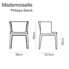 Mademoiselle Starck For Kartell Dimensions