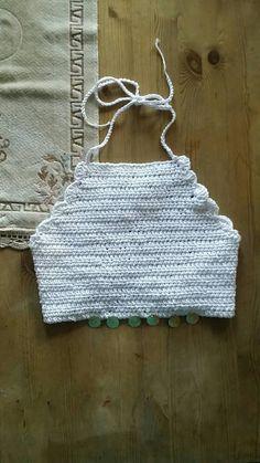 Hand made crochet bikini  top / boho womens by dollycalledtopsy