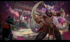 THESE ARE OFFICIAL SKINS I DID FOR THE GAME NOT FANARTS another skin done for VG   can also be found here including the progress of the image Artstation:  www.artstation.com/artwork/wyv&h...