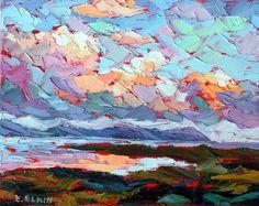Original Oil painting Landscape Impasto Palette by Elizabeth Elkin, www.trueart.ca