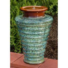 Alfesco Home Twister Ceramic Indoor / Outdoor Fountain