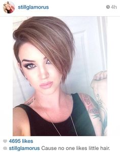 love this but i would never do it short haircuts 2015 Hot Haircuts, Girls Short Haircuts, Medium Bob Hairstyles, Pretty Hairstyles, Cut Hairstyles, Popular Haircuts, Trendy Haircuts, Love Hair, Great Hair