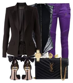 Boss Chic by styledbytammy on Polyvore featuring polyvore fashion style Alexandre Vauthier Balmain Miu Miu Yves Saint Laurent Movado clothing