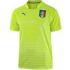 Modelo de camiseta de portero Puma Camiseta Italia amarillo 2014 2015  portero c0a38cbbc007d